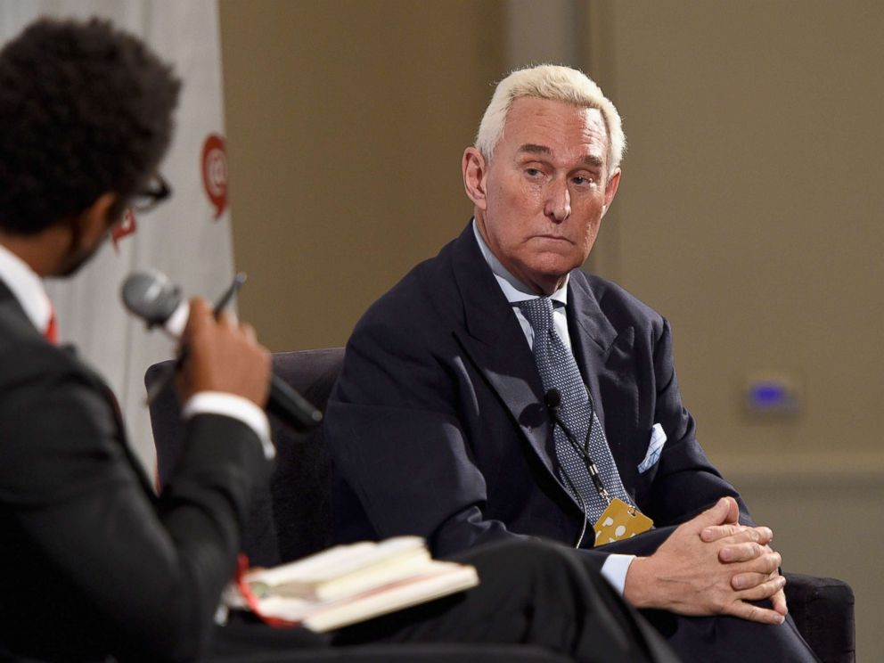 PHOTO: Roger Stone speaks at the Pasadena Convention Center on July 30, 2017 in Pasadena, Calif.