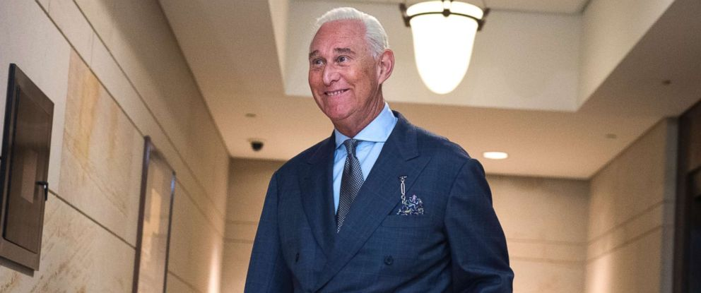 PHOTO: Roger Stone, advisor to President Trump, arrives in the Capitol to speak with the House Intelligence Committee on possible Russian interference in the 2016 election, Sept. 26, 2017.