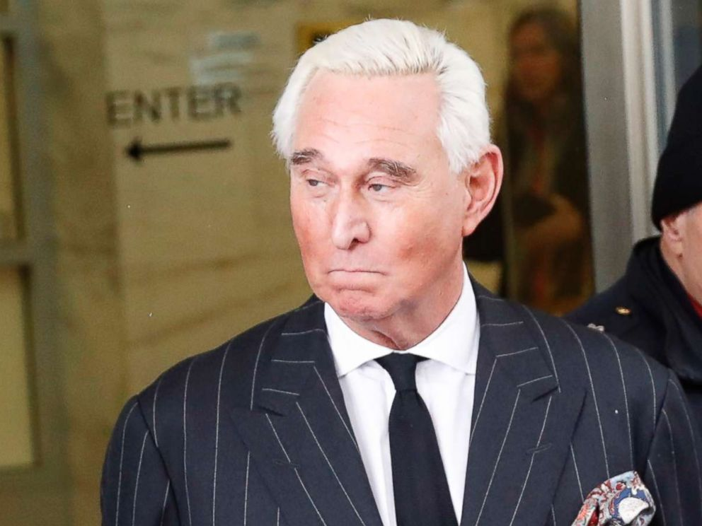PHOTO: Former campaign adviser for President Donald Trump, Roger Stone, leaves federal court in Washington,D.C., Feb. 1, 2019.