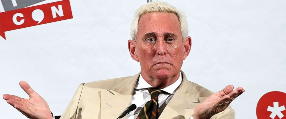 PHOTO: Roger Stone speaks at Politicon 2017 at Pasadena Convention Center, July 29, 2017, in Pasadena, Calif.