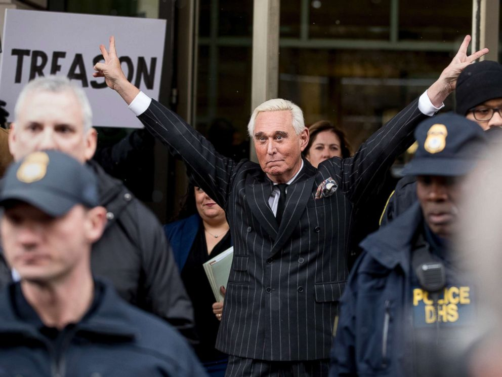 PHOTO: Roger Stone leaves federal court on Feb. 1, 2019 in Washington, D.C.