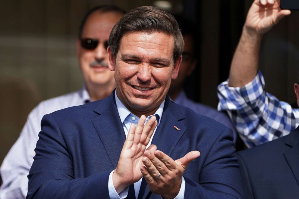 PHOTO: Republican candidate for Governor Ron DeSantis holds a rally in Orlando, Fla., Nov. 5, 2018.