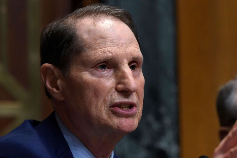 PHOTO: In this April 9, 2019 file photo, Senate Finance Committee ranking member Sen. Ron Wyden, D-Ore., speaks during a hearing on Capitol Hill in Washington.