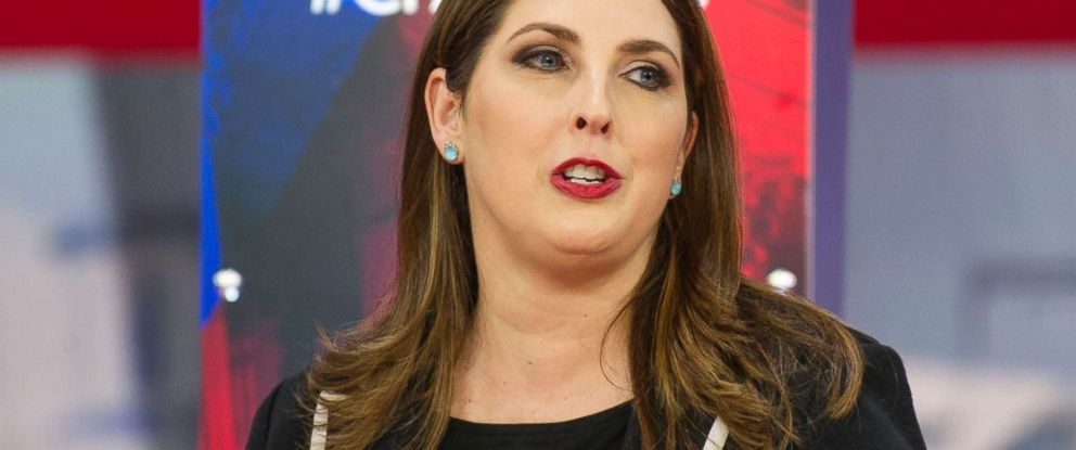 PHOTO: Ronna Romney McDaniel, Chair, Republican National Committee, speaks at the Conservative Political Action Conference (CPAC) in National Harbor, Md. on Feb. 23, 2018.