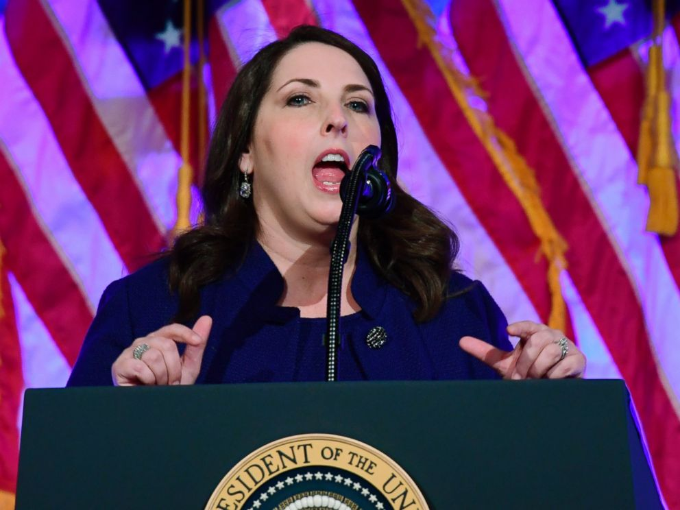 In this Dec. 2, 2017, photo, Republican National Committee chairwoman Ronna Romney McDaniel, speaks at a fundraiser at Cipriani in New York.