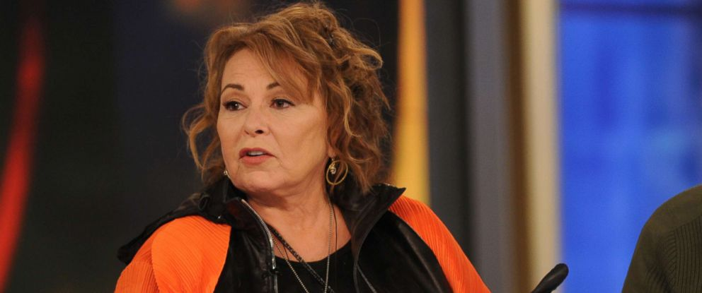 """PHOTO: Roseanne Barr appears on ABCs """"The View"""", March 27, 2018."""