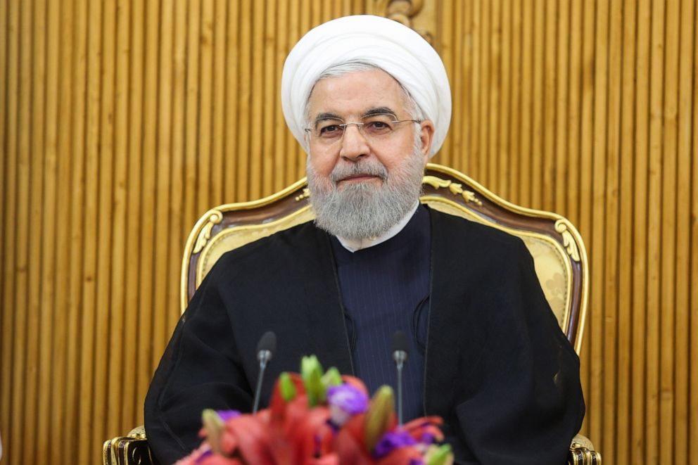 PHOTO: A handout picture provided by the Iranian presidency on September 23, 2019, shows President Rouhani attending a farewell ceremony at the Mehrabad airport in Tehran, shortly before leaving Tehran for the UN General Assembly in New York.