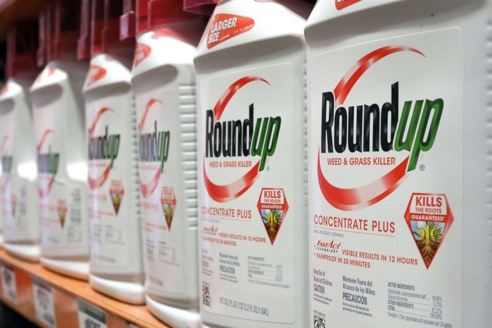 PHOTO: Bottles of Monsantos Roundup are seen for sale June 19, 2018 at a retail store in Glendale, California.