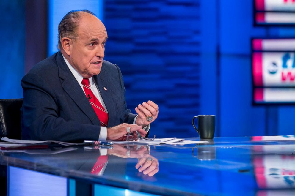 PHOTO: Rudy Giuliani, President Donald Trumps personal attorney, on This Week with George Stephanopoulos, Sept. 29, 2019.