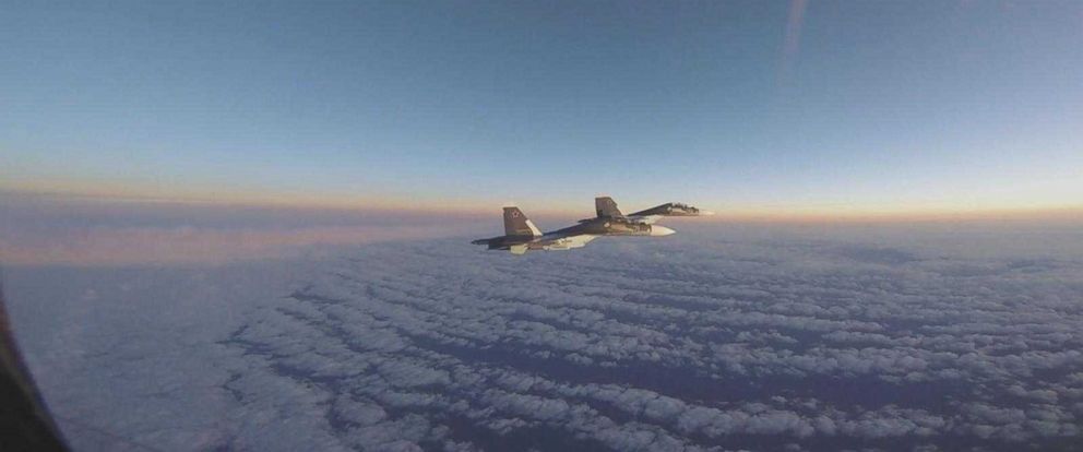 PHOTO: New videos released by U.S. Air Forces Europe show two intercepts of Russian SU-30 Flankers in international airspace over the Baltic Sea in October and November of 2017.