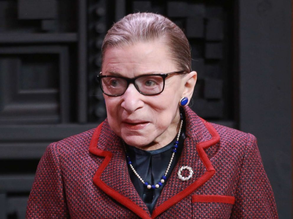 Justice Ginsburg up and working after surgery