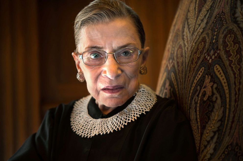 PHOTO: Supreme Court Justice Ruth Bader Ginsburg is photographed in the West conference room at the U.S. Supreme Court in Washington, D.C., Aug. 30, 2013.