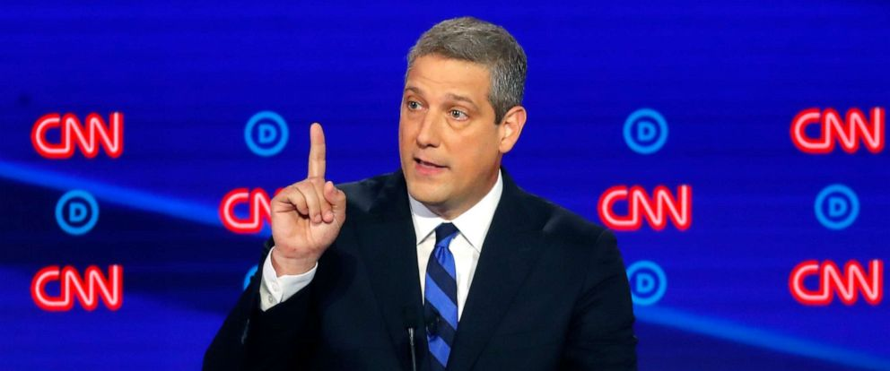 PHOTO: Rep. Tim Ryan, D-Ohio, speaks during the first of two Democratic presidential primary debates, July 30, 2019, in Detroit.