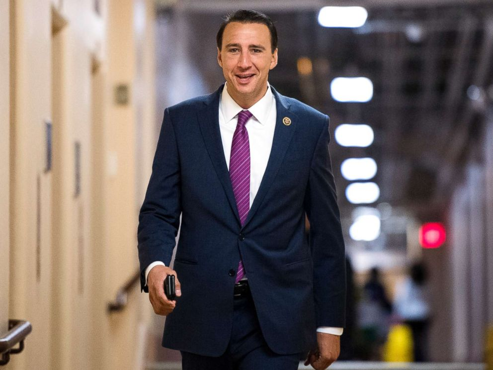 PHOTO: Rep. Ryan Costello, R-Pa., arrives for the House Republican Conference meeting in the Capitol on April 26, 2017.