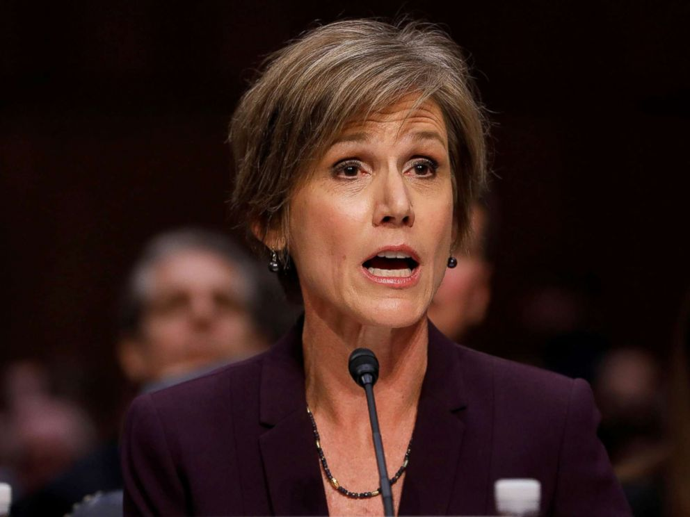 PHOTO: Former Acting Attorney General Sally Yates testifies about potential Russian interference in the presidential election before the Senate Judiciary Committee on Capitol Hill, May 8, 2017.
