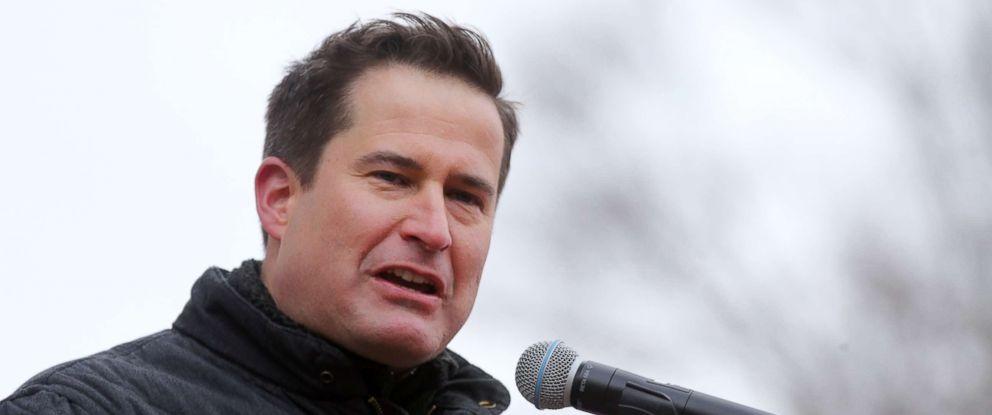 PHOTO: Congressman Seth Moulton addresses the crowd during a Stand With Planned Parenthood rally at the Boston Common in Boston, Mass., March 4, 2017.
