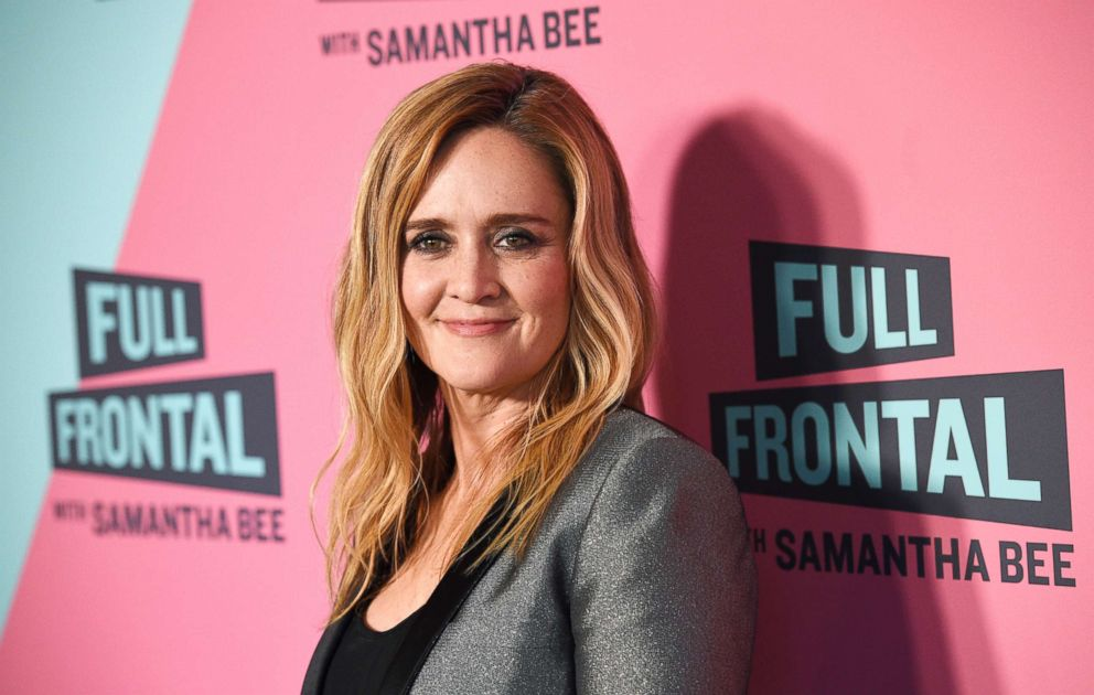 "Samantha Bee, host of ""Full Frontal with Samantha Bee,"" poses at the Writers Guild Theater, May 24, 2018, in Beverly Hills, Calif."