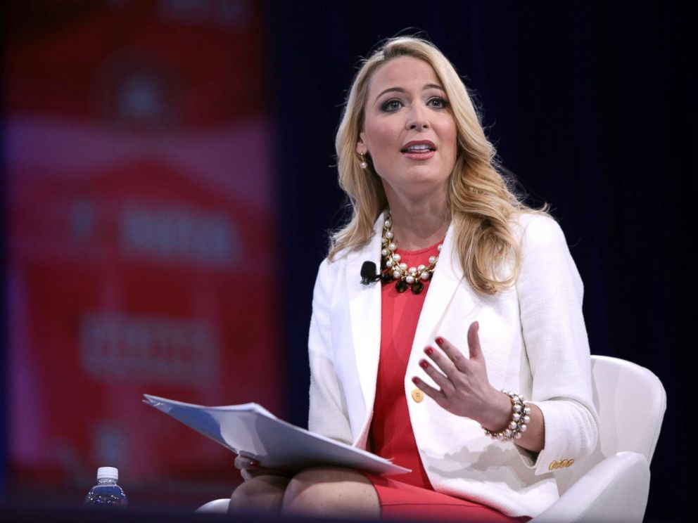 PHOTO: Samantha Dravis speaks on a panel on energy self-sufficiency during CPAC in 2016.