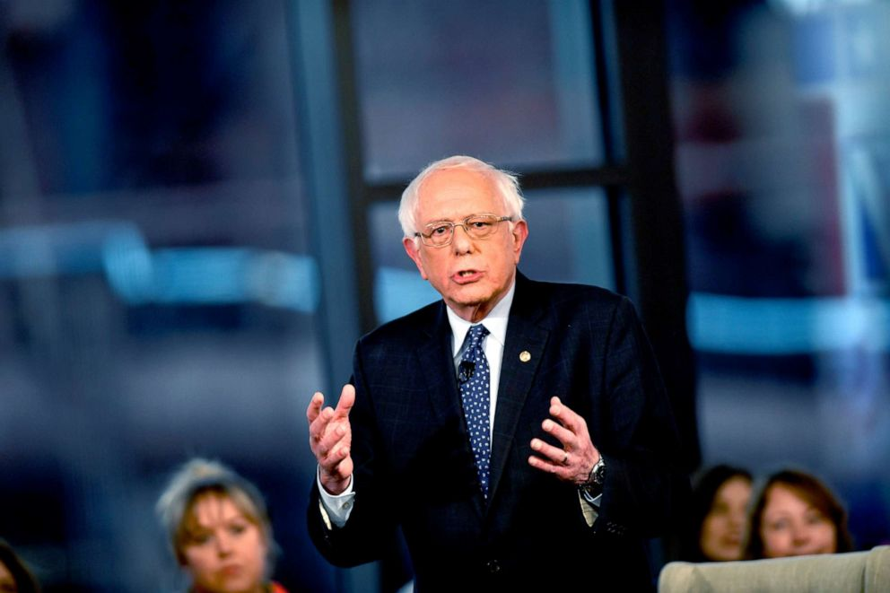 PHOTO:Democratic presidential candidate, Sen. Bernie Sanders (I-VT) participates in a FOX News Town Hall at SteelStacks, April 15, 2019, in Bethlehem, Penn.