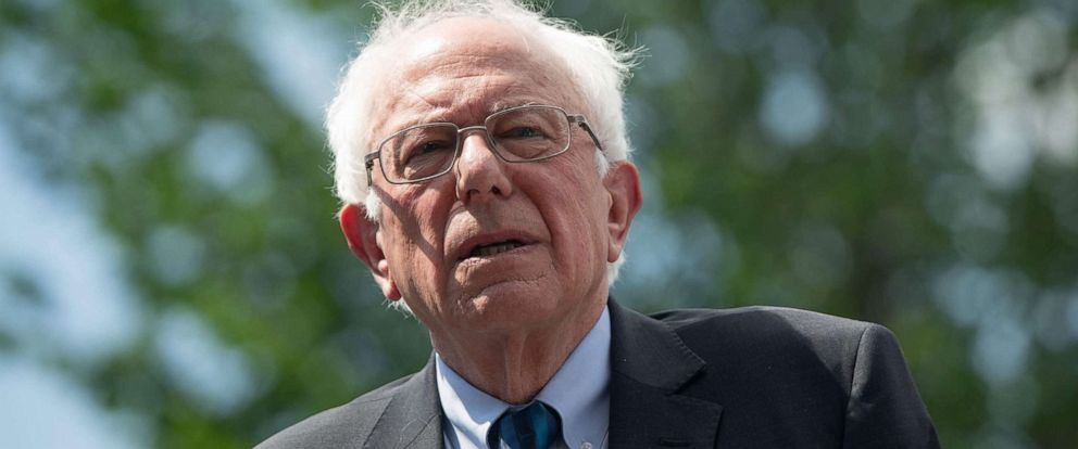 PHOTO:Bernie Sanders attends a press conference to introduce college affordability legislation outside the US Capitol in Washington, D.C., June 24, 2019.