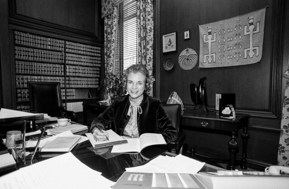 Judge Sandra Day O'Connor in her chambers, circa 1981.