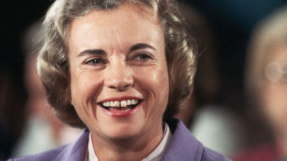 Sandra Day O'Connor smiles during her confirmation hearing after she was nominated to be an Associate Justice of the Supreme Court and coincidentally the first woman to serve on the Court, in Washington, Sept. 9, 1981.