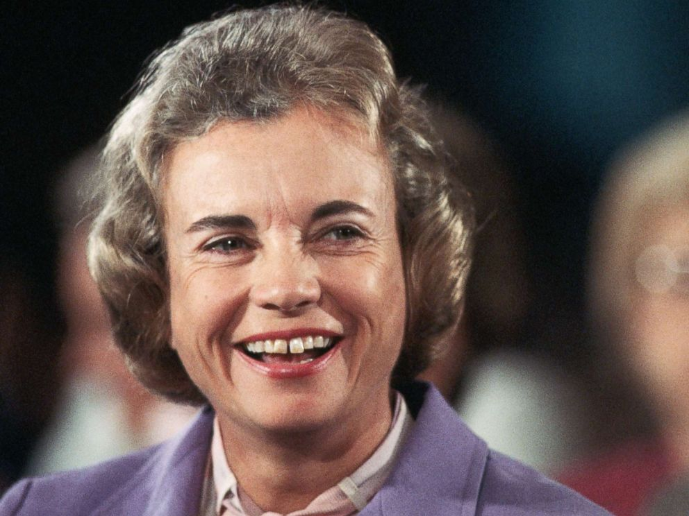 PHOTO: Sandra Day OConnor smiles during her confirmation hearing after she was nominated to be an Associate Justice of the Supreme Court and coincidentally the first woman to serve on the Court, in Washington, Sept. 9, 1981.