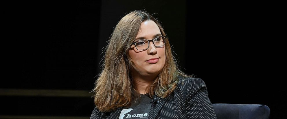"""PHOTO: In this file photo, Sarah McBride attends """"Out in Office"""" panel at Tribeca Celebrates Pride Day at 2019 Tribeca Film Festival on May 4, 2019, in New York."""