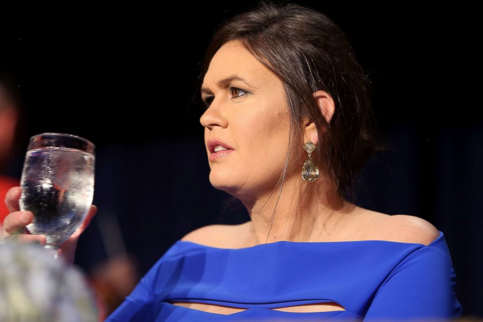 PHOTO: Sarah Huckabee Sanders attends the 2018 White House Correspondents Dinner at the Washington Hilton on April 28, 2018, in Washington, D.C.