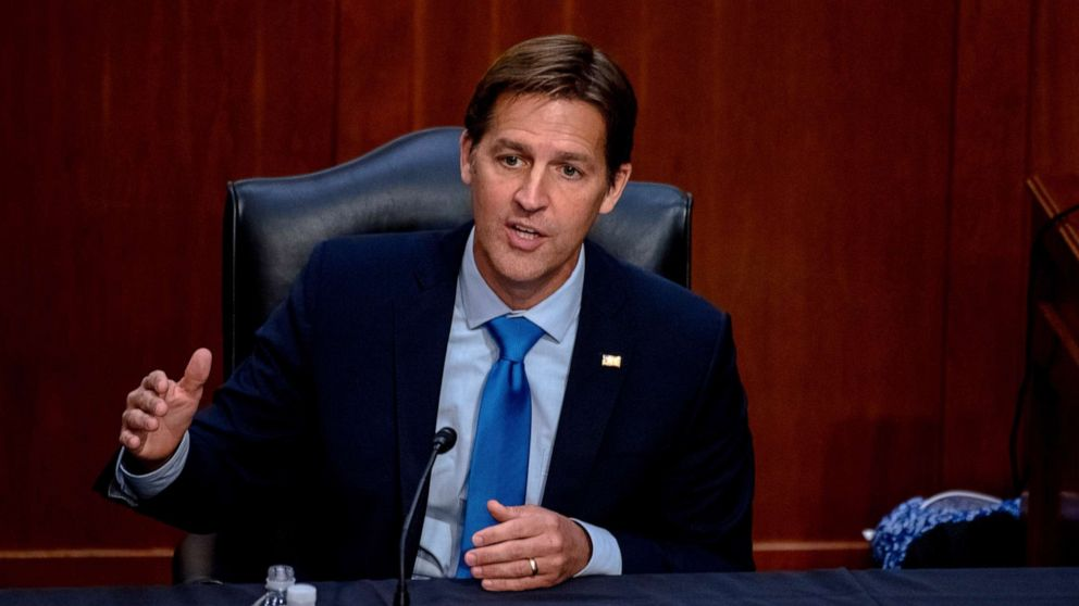 PHOTO: Sen. Ben Sasse speaks during the confirmation hearing for Supreme Court nominee Amy Coney Barrett, before the Senate Judiciary Committee on Capitol Hill, in Washington, Oct. 14, 2020.