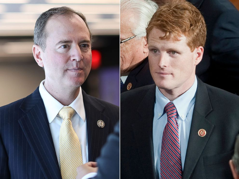 PHOTO: Congressman Adam Schiff during the The Common Goods presents A conversation with Congressman Adam Schiff, Sept. 15, 2017, in New York. Joseph Kennedy III, D-Mass., on the floor of the House on first day of the 113th Congress.