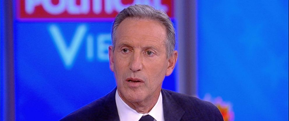 "PHOTO: Howard Schultz, former CEO of Starbucks appears on ABCs ""The View,"" Jan. 29, 2019."