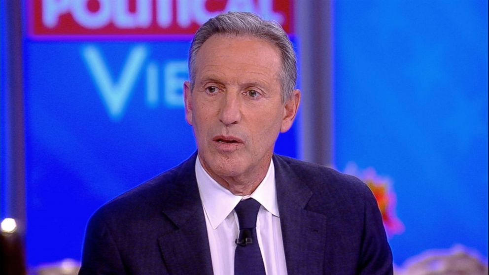"""Howard Schultz, former CEO of Starbucks appears on ABC's """"The View,"""" Jan. 29, 2019."""