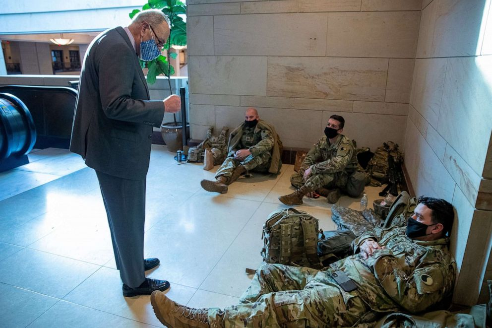 Lawmakers outraged at images of National Guard sent from Capitol to parking  garages - ABC News