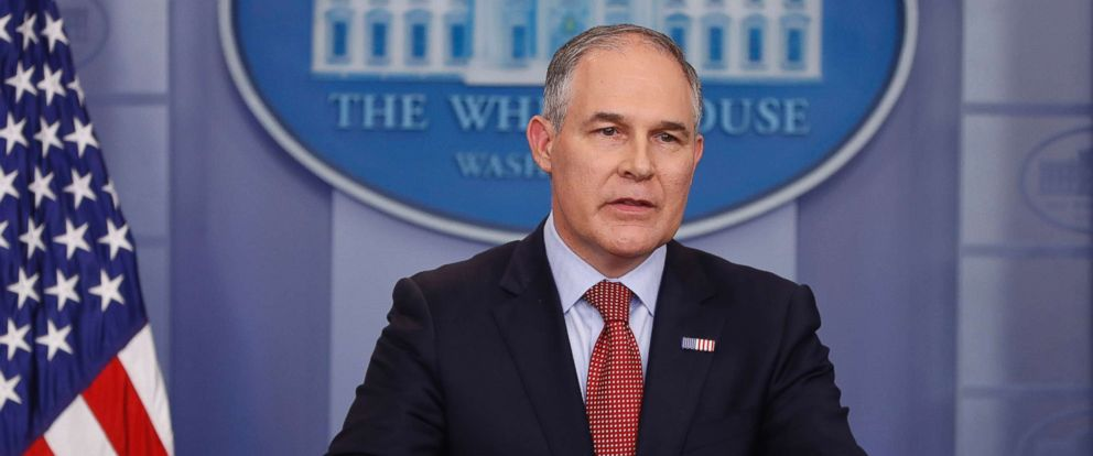 PHOTO: In this June 2, 2017, file photo, EPA Administrator Scott Pruitt speaks in the Brady Press Briefing Room of the White House in Washington.