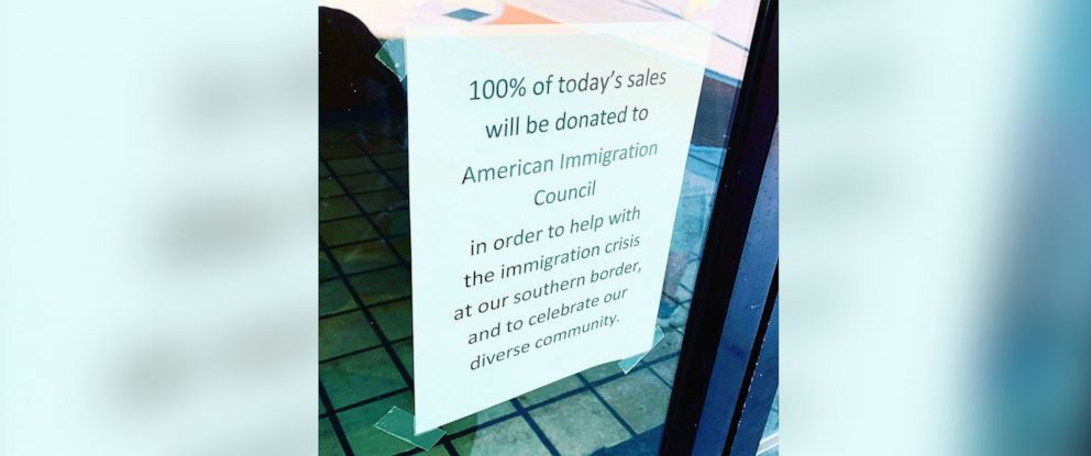 PHOTO: The Scullery restaurant in Greenville, N.C., says in a letter that it will donate its daily profits to an immigration nonprofit ahead of President Donald Trumps rally.