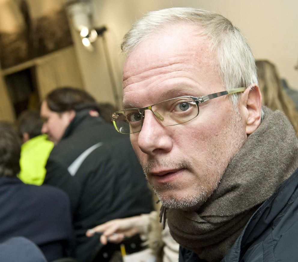 PHOTO: Film maker and former hostage Sean Langan sits in the audience during a WikiLeaks discussion at The Front Line Club in London, Dec. 1, 2010.