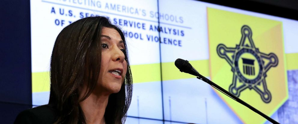 PHOTO: U.S. Secret Service National Threat Assessment Center Chief Lina Alathari conducts a briefing about the newly released analysis of targeted school violence at the services headquarters, Nov. 7, 2019, in Washington, DC.