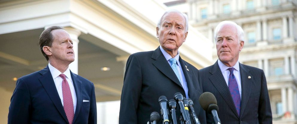 Image result for photos of orrin hatch working on the tax bill