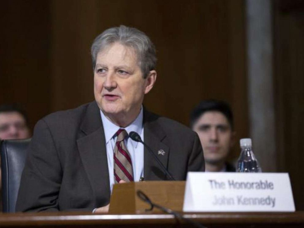 PHOTO: Senator John Kennedy speaks during the Senate Committee on Energy and Natural Resources hearing considering the nomination of Dan Brouillette to be Secretary of Energy on Capitol Hill in Washington, Nov. 14, 2019.