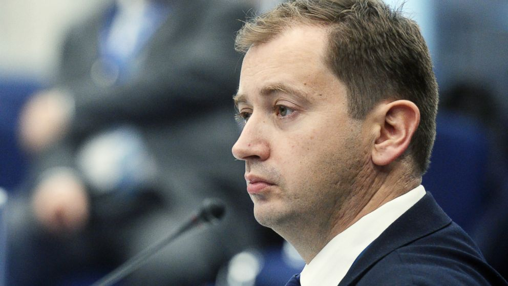 Sergei Millian attends an event during the National Oil and Gas Forum at the Central Exhibition Complex Expo Center in Moscow, April 19, 2016.