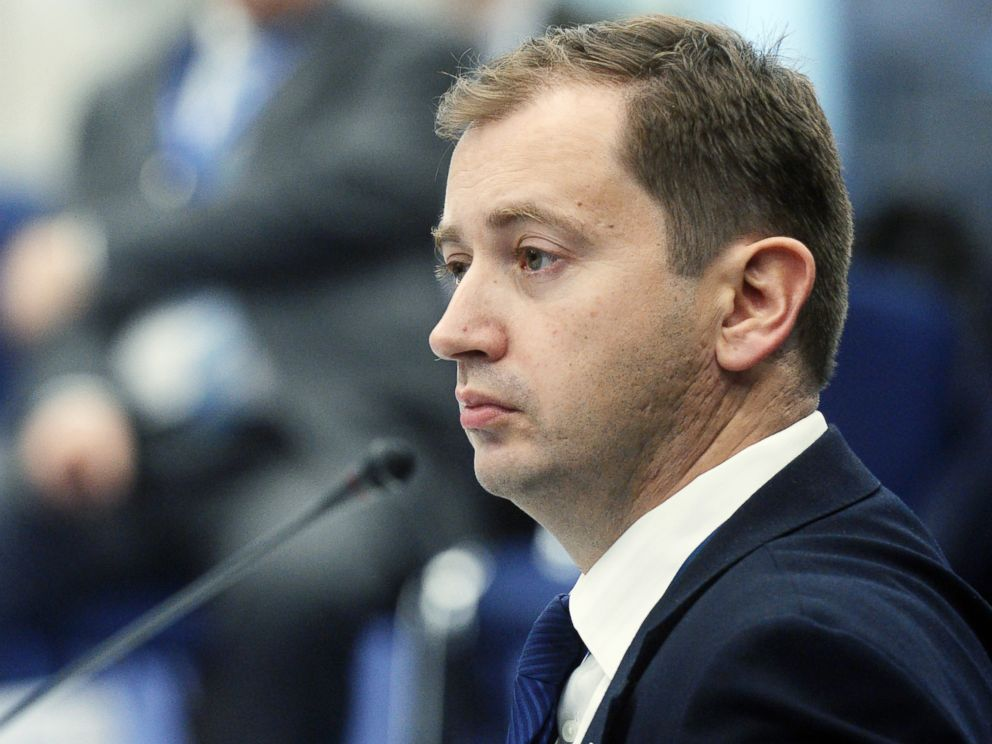 PHOTO: Sergei Millian attends an event during the National Oil and Gas Forum at the Central Exhibition Complex Expo Center in Moscow, April 19, 2016.