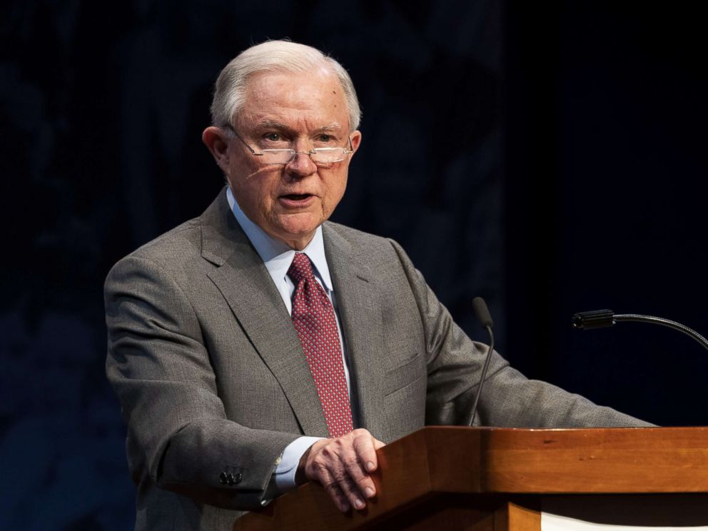 Jeff Sessions speaks at the Turning Point High School Leadership Summit in Washington, D.C., July 24, 2018.