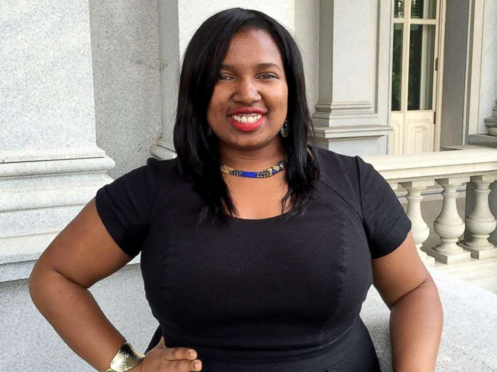 PHOTO: Shavonnia Corbin-Johnson, a 26-year-old former staffer for Democratic incumbent Sen. Bob Casey who worked under the Obama administration at the Office of Management and Budget.