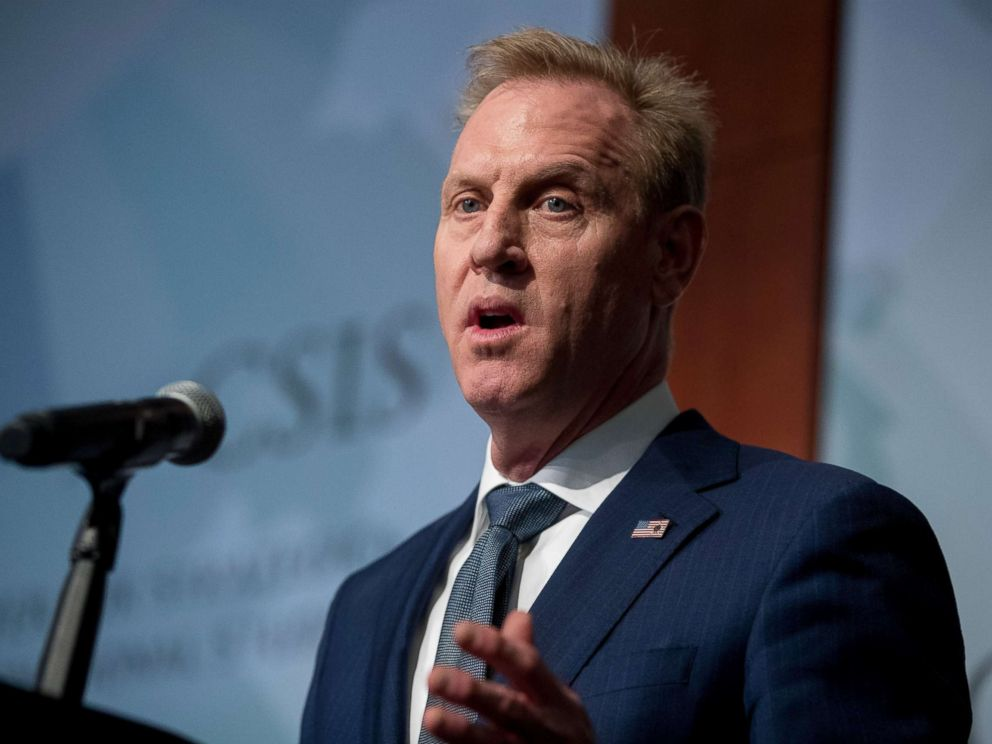 PHOTO: Acting Secretary of Defense Patrick Shanahan will speak at the Center for Strategic and International Studies on March 20, 2019.