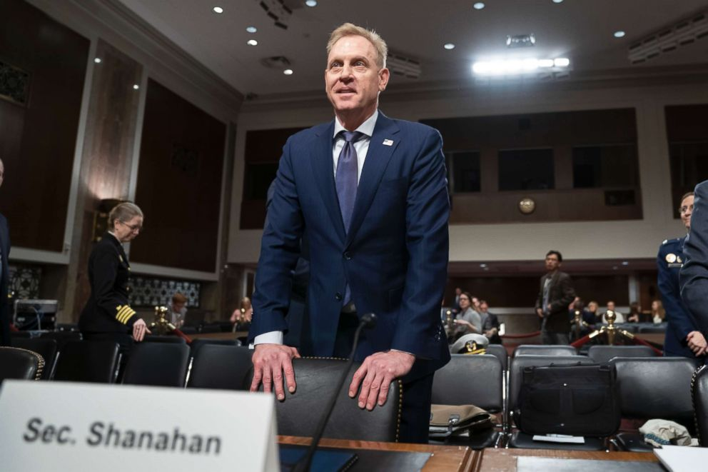 PHOTO: Acting Defense Secretary Patrick Shanahan appeared before the Senate Committee on the Armed Forces to discuss the Defense Ministry budget at Capitol Hill on March 14, 2019.