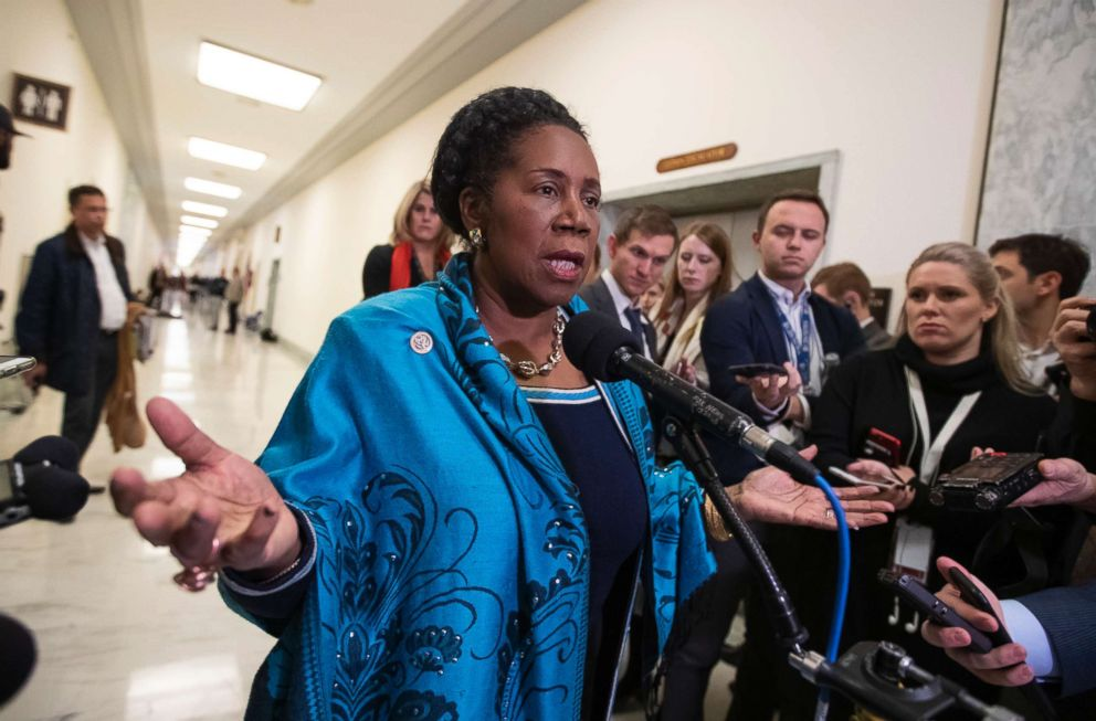 PHOTO: Rep. Sheila Jackson Lee, D-Texas, a member of the House Judiciary Committee, speaks to reporters on Capitol Hill in Washington.
