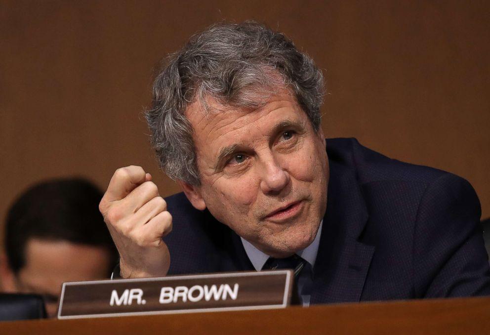 Sen. Sherrod Brown speaks during a markup of the Republican tax reform proposal, Nov. 14, 2017, in Washington.