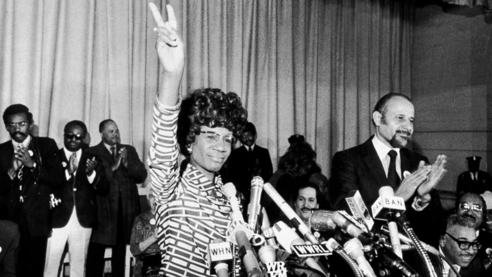 US Representative Shirley Chisholm of Brooklyn announces her entry for Democratic nomination for the presidency, at the Concord Baptist Church in Brooklyn, New York, Jan. 25, 1972.