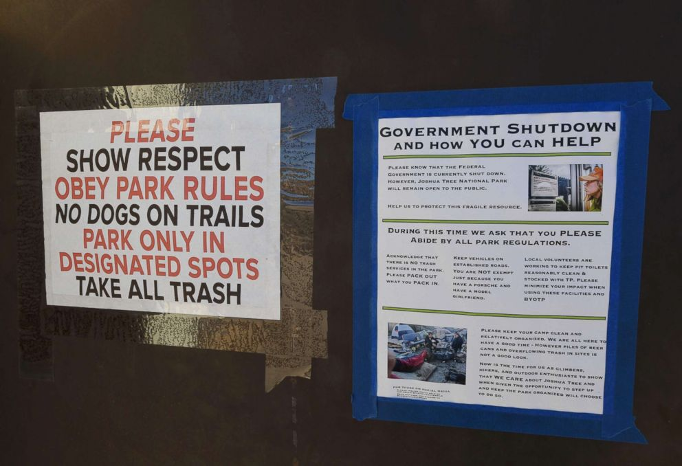 Youth group cleans up national parks while government remains shut down